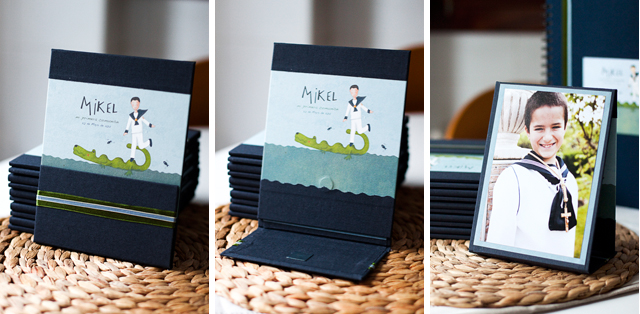 Porta foto comunión ilustración donostia gipuzkoa